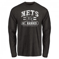 Men's Joe Harris Brooklyn Nets Black Baseline Tri-Blend Long Sleeve T-Shirt