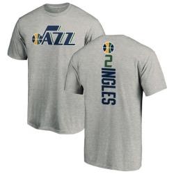 big sale 134fd 6ffce Men's Joe Ingles Utah Jazz Ash Backer T-Shirt