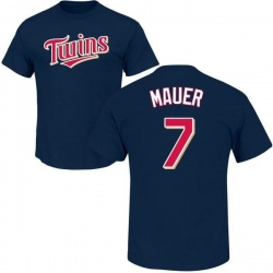 Men's Joe Mauer Minnesota Twins Roster Name & Number T-Shirt - Navy