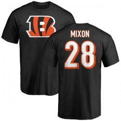 Men's Joe Mixon Cincinnati Bengals Name & Number Logo T-Shirt - Black