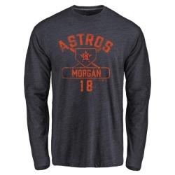 Men's Joe Morgan Houston Astros Base Runner Tri-Blend Long Sleeve T-Shirt - Navy
