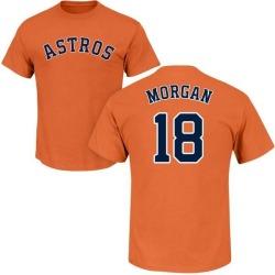 Men's Joe Morgan Houston Astros Roster Name & Number T-Shirt - Orange