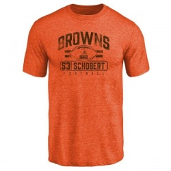 Men's Joe Schobert Cleveland Browns Flanker Tri-Blend T-Shirt - Orange