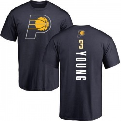 Men's Joe Young Indiana Pacers Navy Backer T-Shirt
