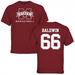 Men's Joel Baldwin Mississippi State Bulldogs Basketball T-Shirt - Maroon
