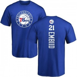 Men's Joel Embiid Philadelphia 76ers Royal Backer T-Shirt