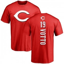 Men's Joey Votto Cincinnati Reds Backer T-Shirt - Red