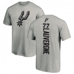 Men's Joffrey Lauvergne San Antonio Spurs Ash Backer T-Shirt