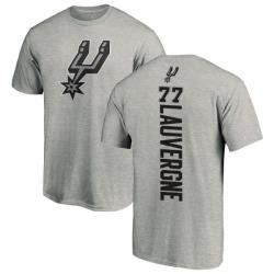 Men's Joffrey Lauvergne San Antonio Spurs Ash Backer T-Shirt