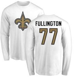 Men's John Fullington New Orleans Saints Name & Number Logo Long Sleeve T-Shirt - White