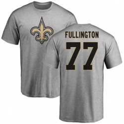 Men's John Fullington New Orleans Saints Name & Number Logo T-Shirt - Ash