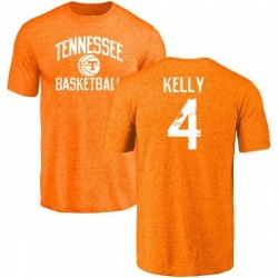 Men's John Kelly Tennessee Volunteers Distressed Basketball Tri-Blend T-Shirt - Tennessee Orange