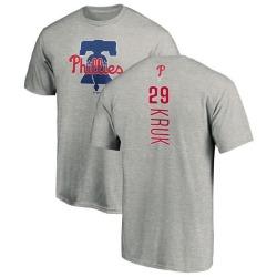 Men's John Kruk Philadelphia Phillies Backer T-Shirt - Ash