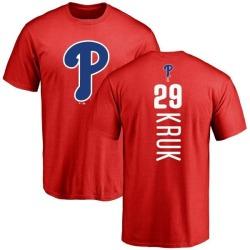 Men's John Kruk Philadelphia Phillies Backer T-Shirt - Red