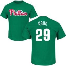 Men's John Kruk Philadelphia Phillies St. Patrick's Day Roster Name & Number T-Shirt - Green