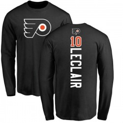 Men's John Leclair Philadelphia Flyers Backer Long Sleeve T-Shirt - Black