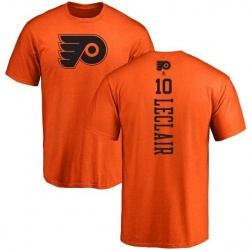 Men's John Leclair Philadelphia Flyers One Color Backer T-Shirt - Orange