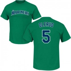 Men's John Olerud Seattle Mariners Roster Name & Number T-Shirt - Green