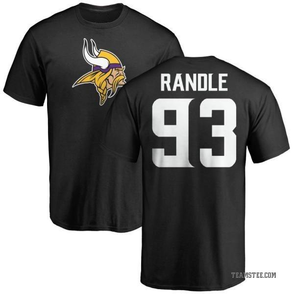 Men's John Randle Minnesota Vikings Name & Number Logo T Shirt