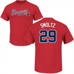 Men's John Smoltz Atlanta Braves Roster Name & Number T-Shirt - Red