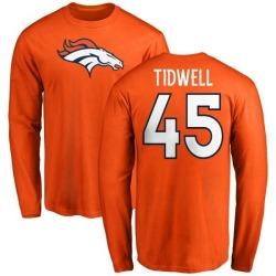 20bc3e46 Women's John Tidwell Denver Broncos Navy Distressed Name & Number ...