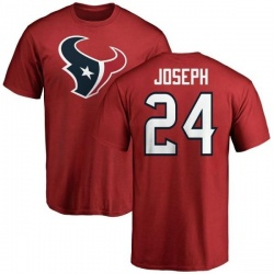 Men's Johnathan Joseph Houston Texans Name & Number Logo T-Shirt - Red