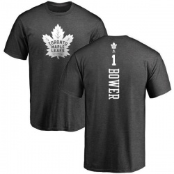 Men's Johnny Bower Toronto Maple Leafs One Color Backer T-Shirt - Charcoal