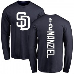 Men's Johnny Manziel San Diego Padres Backer Long Sleeve T-Shirt - Navy