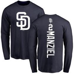 Men's Johnny Manziel San Diego Padres Backer Long Sleeve T-Shirt - Navy