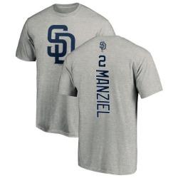 Men's Johnny Manziel San Diego Padres Backer T-Shirt - Ash
