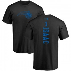 Men's Jonathan Isaac Orlando Magic Black One Color Backer T-Shirt