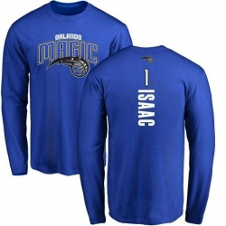 Men's Jonathan Isaac Orlando Magic Royal Backer Long Sleeve T-Shirt
