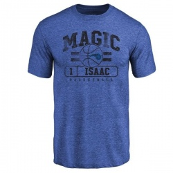 Men's Jonathan Isaac Orlando Magic Royal Baseline Tri-Blend T-Shirt