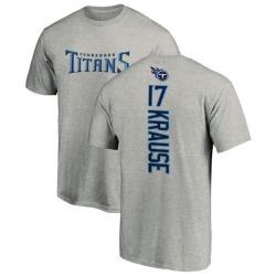 Men's Jonathan Krause Tennessee Titans Backer T-Shirt - Ash