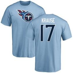 Men's Jonathan Krause Tennessee Titans Name & Number Logo T-Shirt - Light Blue