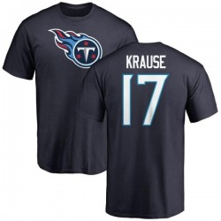 Men's Jonathan Krause Tennessee Titans Name & Number Logo T-Shirt - Navy