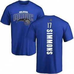 Men's Jonathon Simmons Orlando Magic Royal Backer T-Shirt