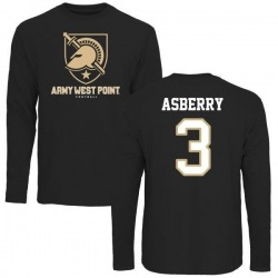 Men's Jordan Asberry Army Black Knights Football Long Sleeve T-Shirt - Black