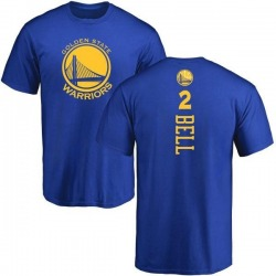 Men's Jordan Bell Golden State Warriors Royal Backer T-Shirt