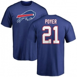 Men's Jordan Poyer Buffalo Bills Name & Number Logo T-Shirt - Royal