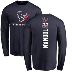 Men's Jordan Todman Houston Texans Backer Long Sleeve T-Shirt - Navy