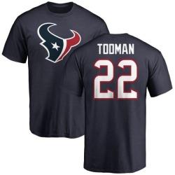 Men's Jordan Todman Houston Texans Name & Number Logo T-Shirt - Navy