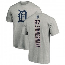 Men's Jordan Zimmermann Detroit Tigers Backer T-Shirt - Ash