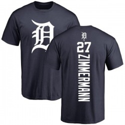 Men's Jordan Zimmermann Detroit Tigers Backer T-Shirt - Navy