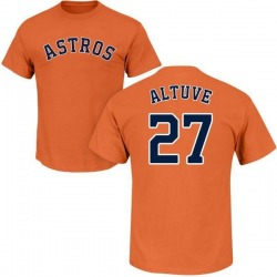 Men's Jose Altuve Houston Astros Roster Name & Number T-Shirt - Orange