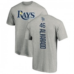 Men's Jose Alvarado Tampa Bay Rays Backer T-Shirt - Ash
