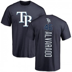 Men's Jose Alvarado Tampa Bay Rays Backer T-Shirt - Navy
