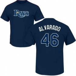 Men's Jose Alvarado Tampa Bay Rays Roster Name & Number T-Shirt - Navy