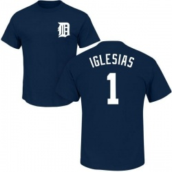 Men's Jose Iglesias Detroit Tigers Roster Name & Number T-Shirt - Navy