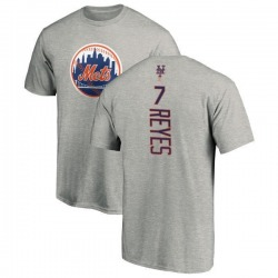 Men's Jose Reyes New York Mets Backer T-Shirt - Ash